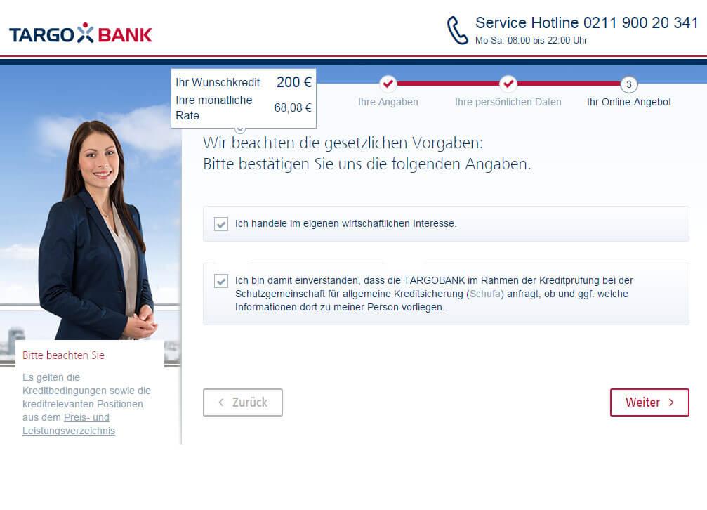 Targobank Direkt Geld Online Antrag Schritt 10