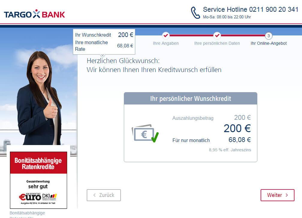 Targobank Direkt Geld Online Antrag Schritt 11