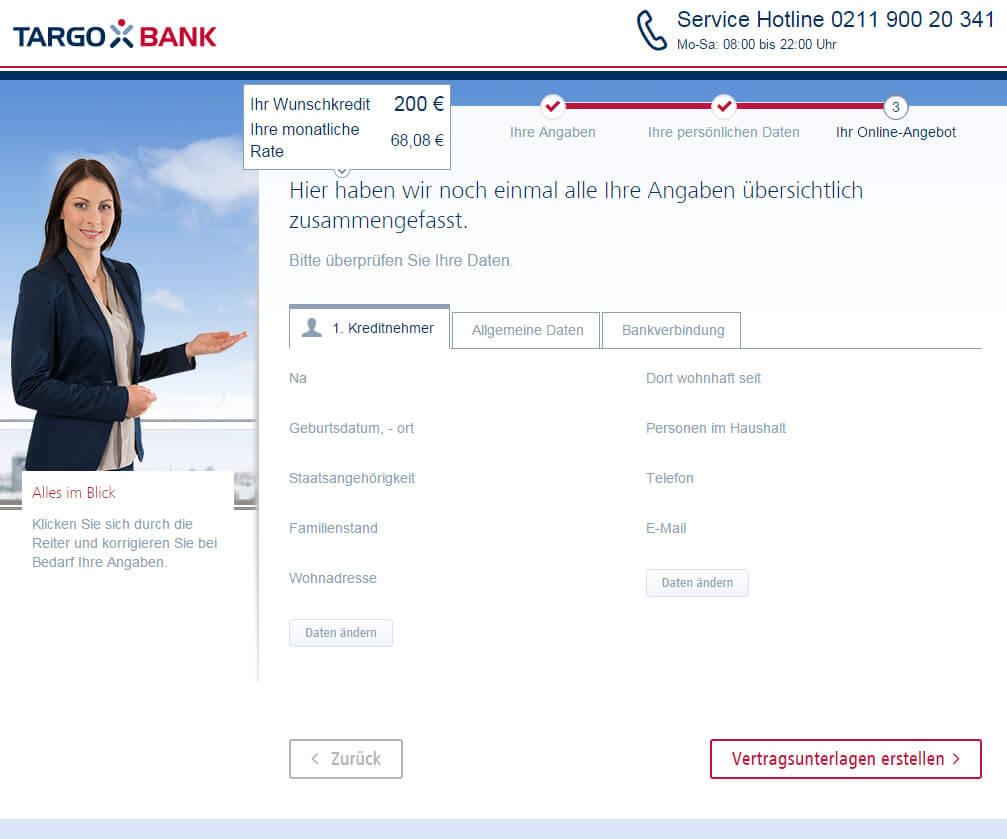 Targobank Direkt Geld Online Antrag Schritt 12