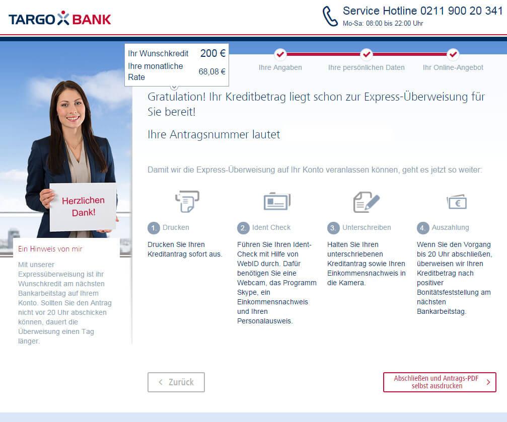 Targobank Direkt Geld Online Antrag Schritt 14
