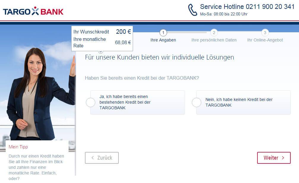 Targobank Direkt Geld Online Antrag Schritt 3
