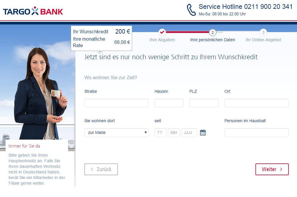 Targobank Direkt Geld Online Antrag Schritt 5