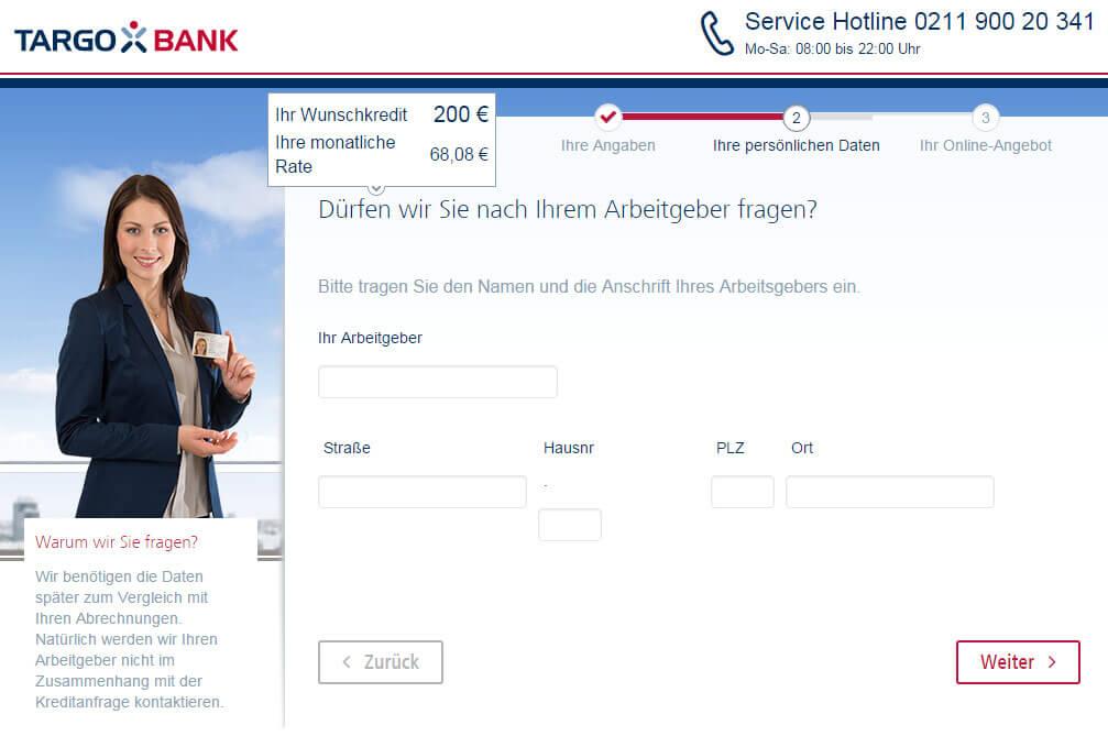 Targobank Direkt Geld Online Antrag Schritt 6