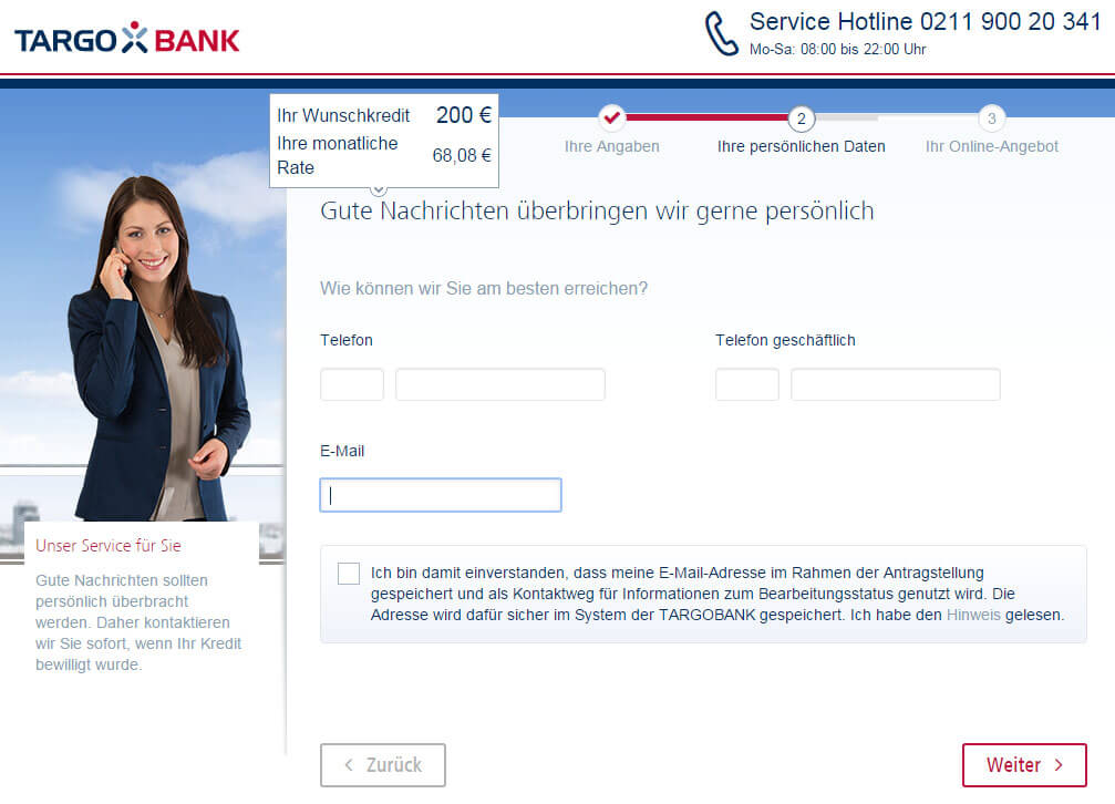 Targobank Direkt Geld Online Antrag Schritt 7