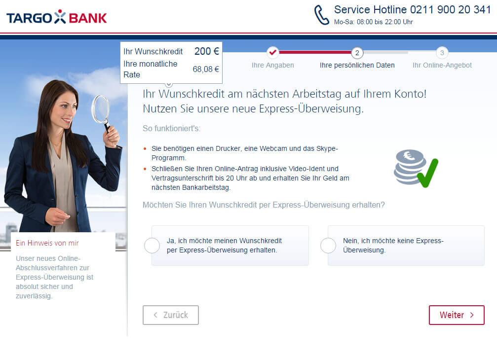 Targobank Direkt Geld Online Antrag Schritt 8