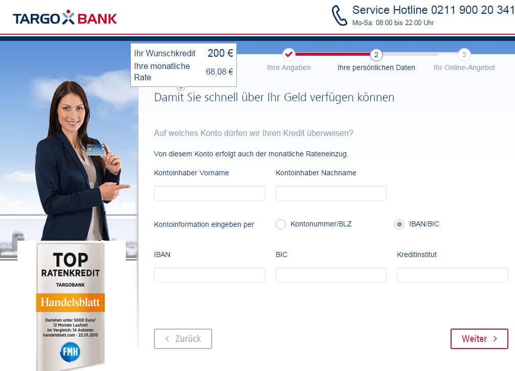 Targobank Direkt Geld Online Antrag Schritt 9